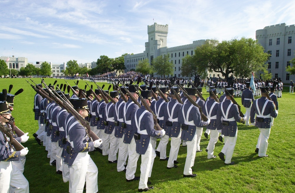 The sights and sounds of a military parade are a weekly occasion in Charleston.