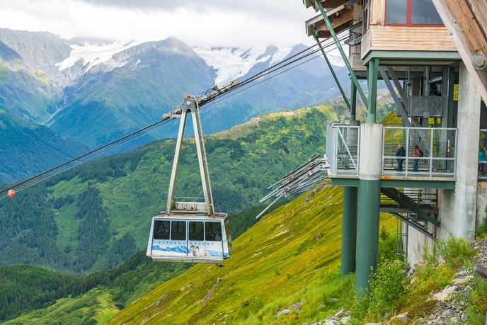 Take in the Chugach Mountains from the tram at Alyeska, which climbs to 2,300 feet.