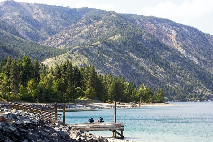 Washingston's Lake Chelan State Park is a haven for hiking, swimming, fishing, and camping.