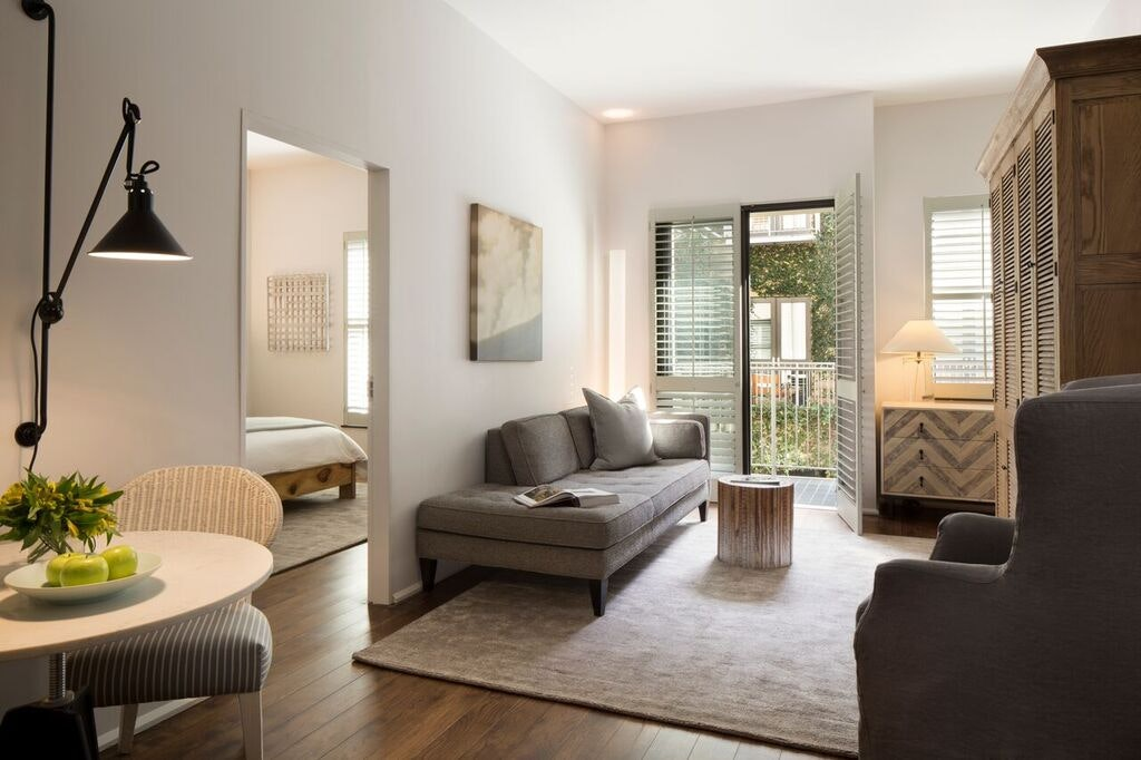 A newly renovated room at Hotel Healdsburg