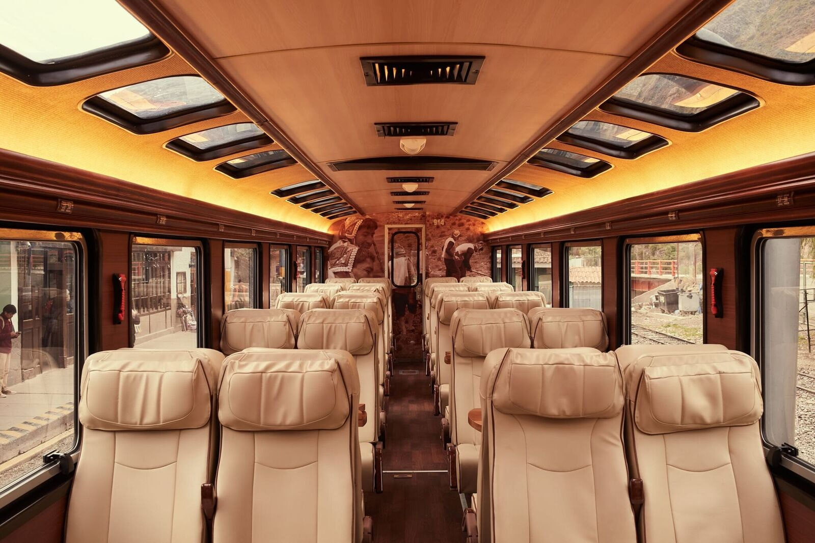 The Voyager is Inca Rail's largest train to Machu Picchu.