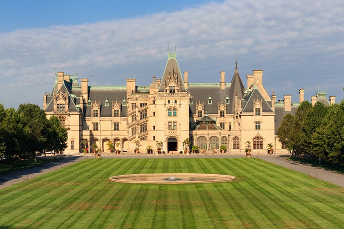 The Biltmore Estate, built for George Washington Vanderbilt, is the largest estate in the U.S.