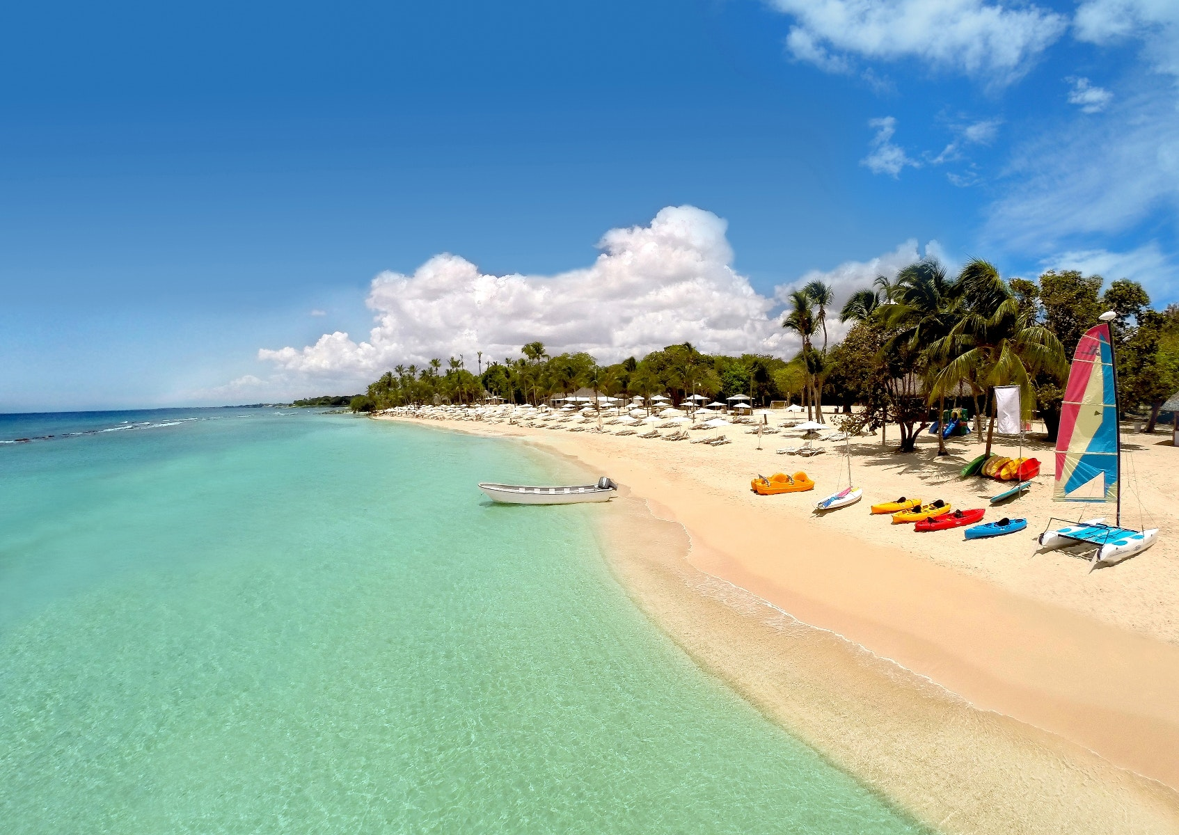 This idyllic beach is calling at Casa de Campo in the Dominican Republic.