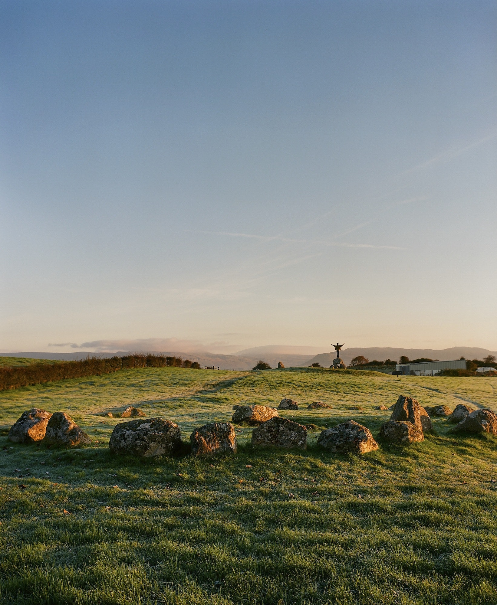 The Carrowmore Megalithic Cemetery, one of four passage tomb sites in Ireland, dates back to 3700 B.C.