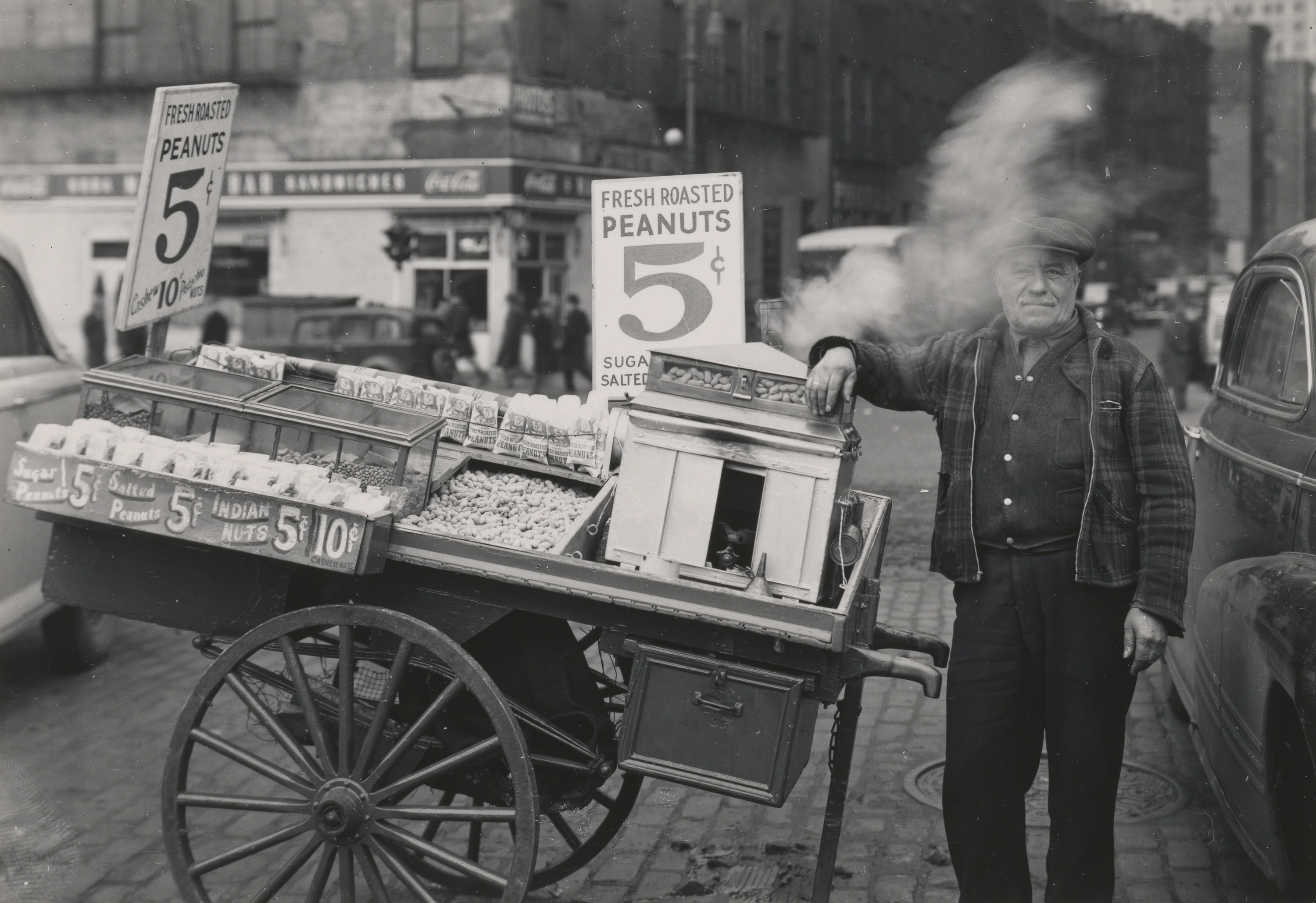 The Battery, New York (Peanut Peddler), 1945