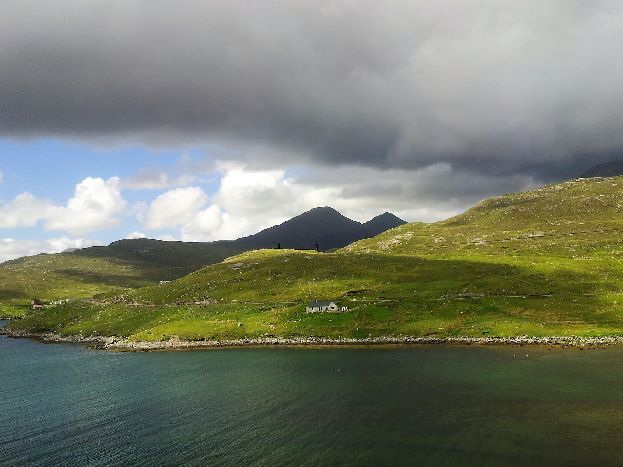 The Isle of Harris is one of the major islands in the Outer Hebrides.