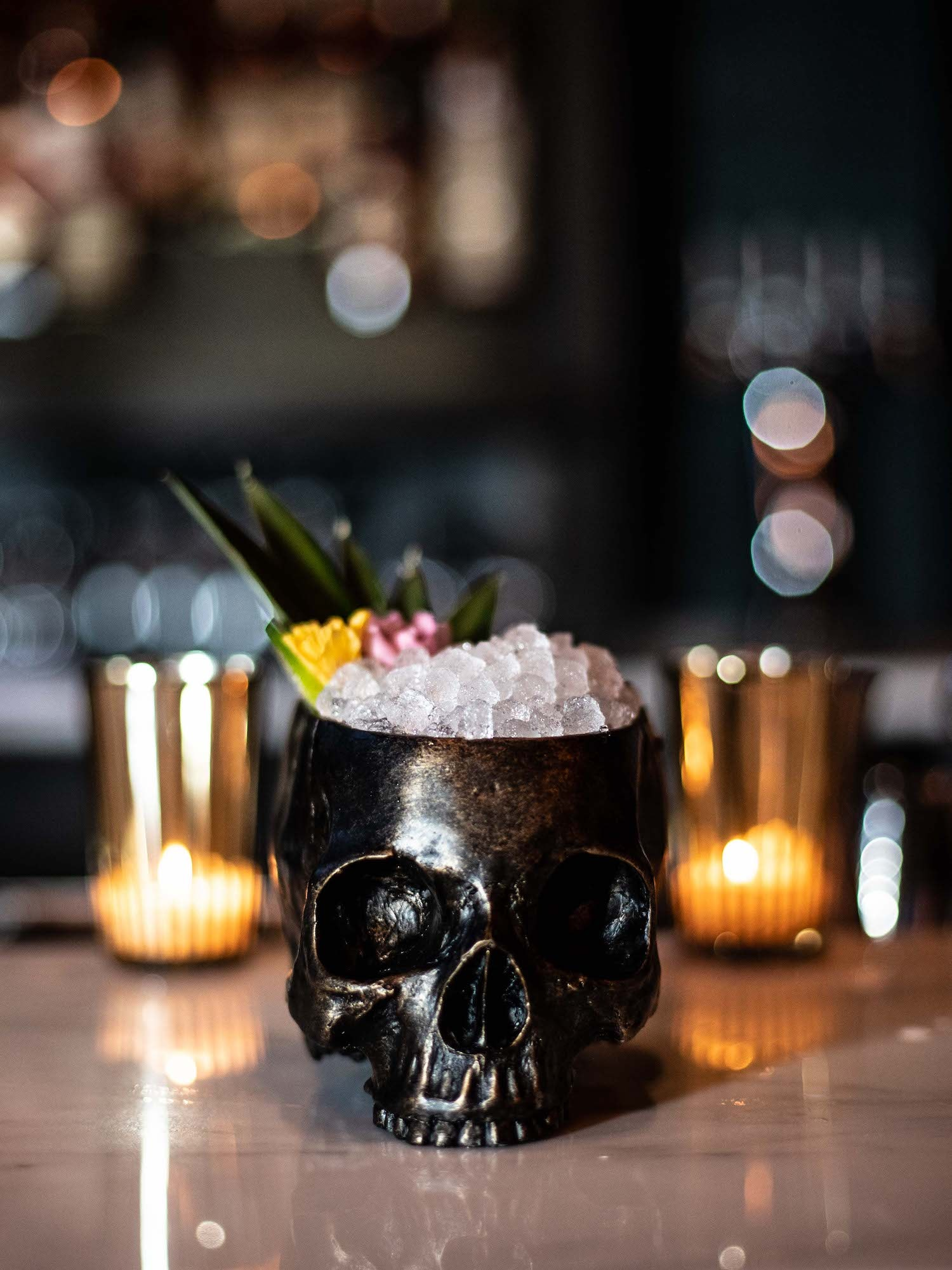 The skull glassware has been a fixture at Death & Co since the bar first opened in 2006.