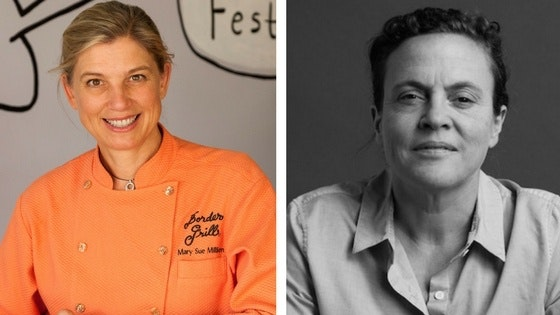 Chefs Mary Sue Milliken and Traci Des Jardins.