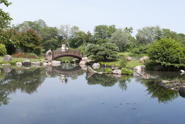 The Osaka Garden, in Jackson Park, was designed by Frederick Law Omsted for the World's Columbian Exposition of 1893.