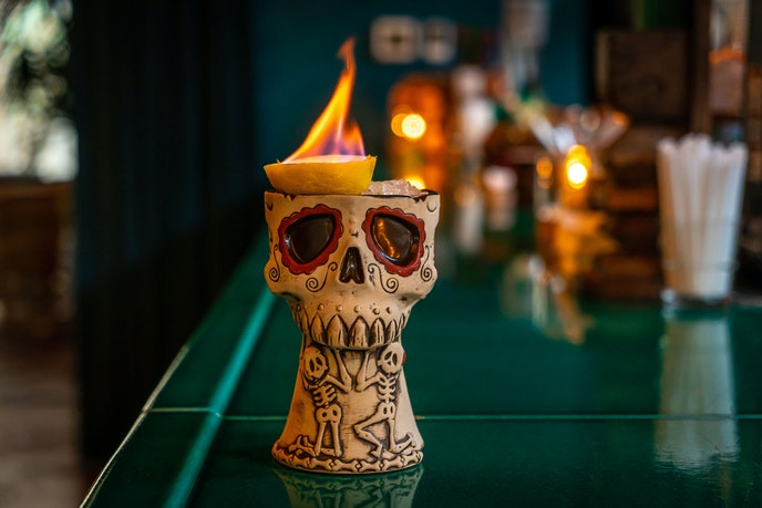 """""""Vaya Con Tiki"""" at The Polynesian features multiple rums infused with coconut African redbush."""