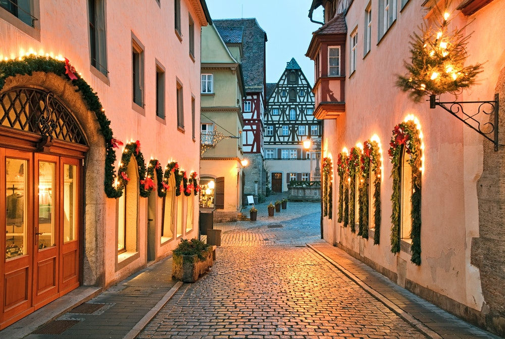 Medieval Rothenburg ob de Tauber gets decked out come Christmastime.