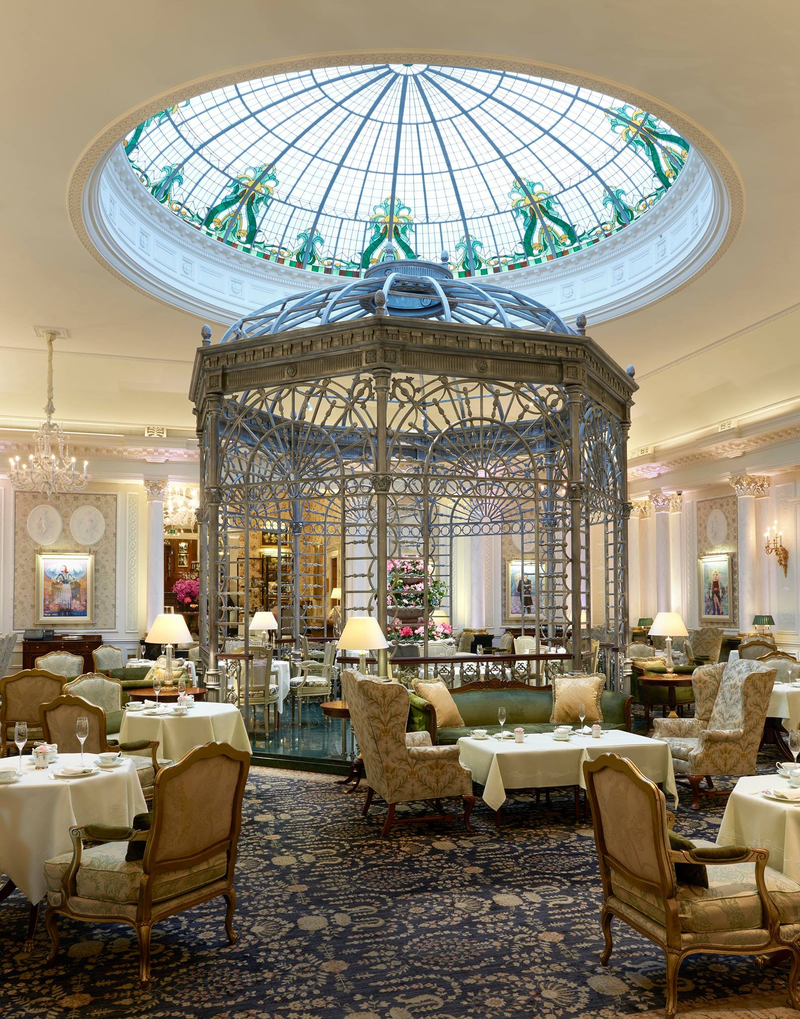 Afternoon tea in the Thames Foyer at The Savoy