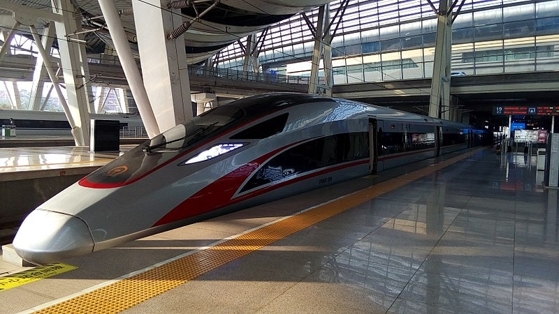 At an average operating speed of 217 miles per hour, the Fuxing Hao is the fastest bullet train in the world.
