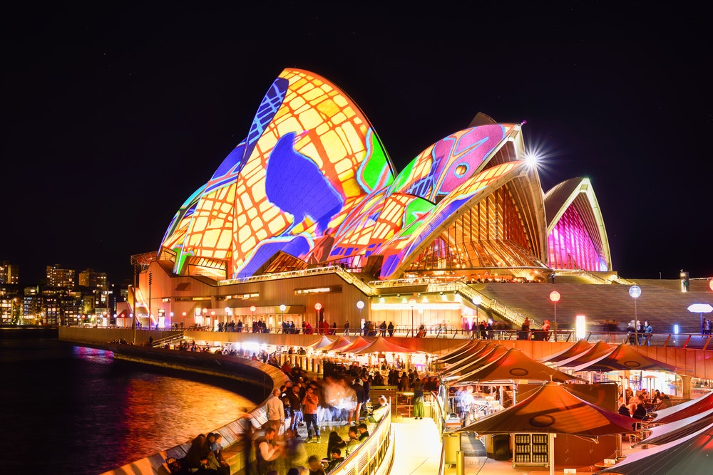 The Sydney Opera House is a canvas for innovative light installations for the duration of Vivid Sydney.