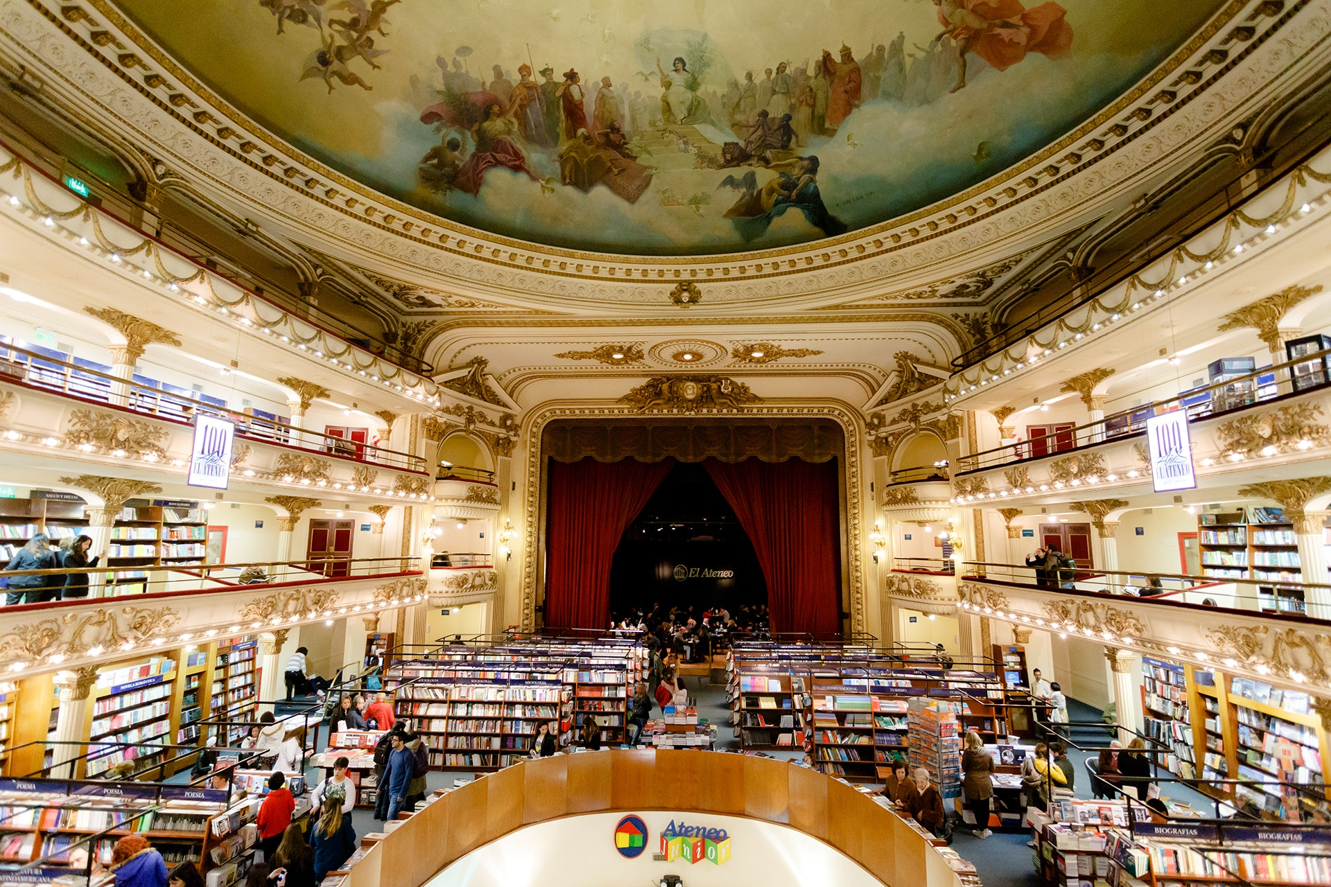 Housed in an old theater, El Ateneo Grand Splendid is the largest bookstore in the country and one of the most famous in the world.