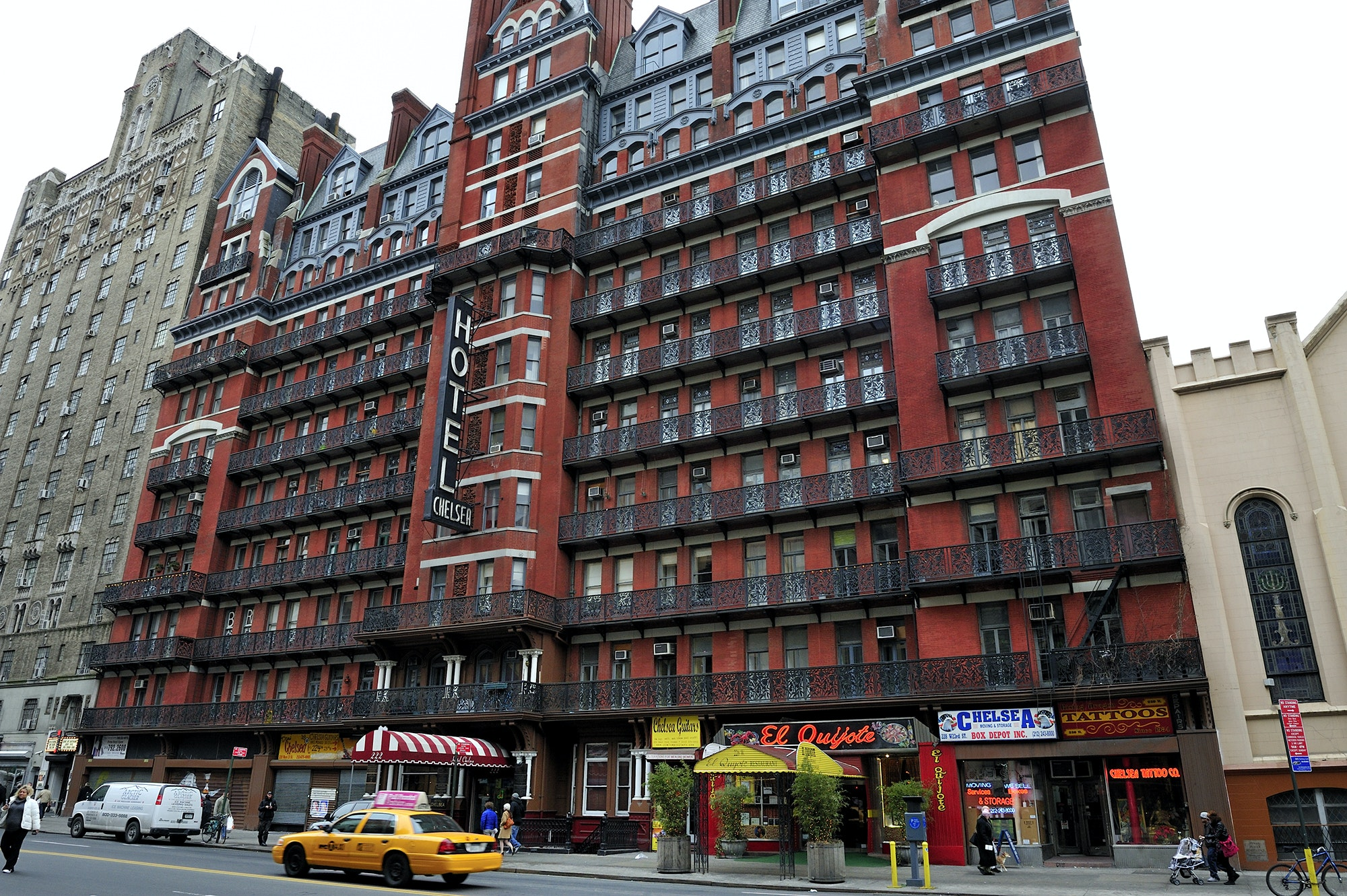 New York City's Chelsea Hotel sits at 222 West 23rd Street in Manhattan.