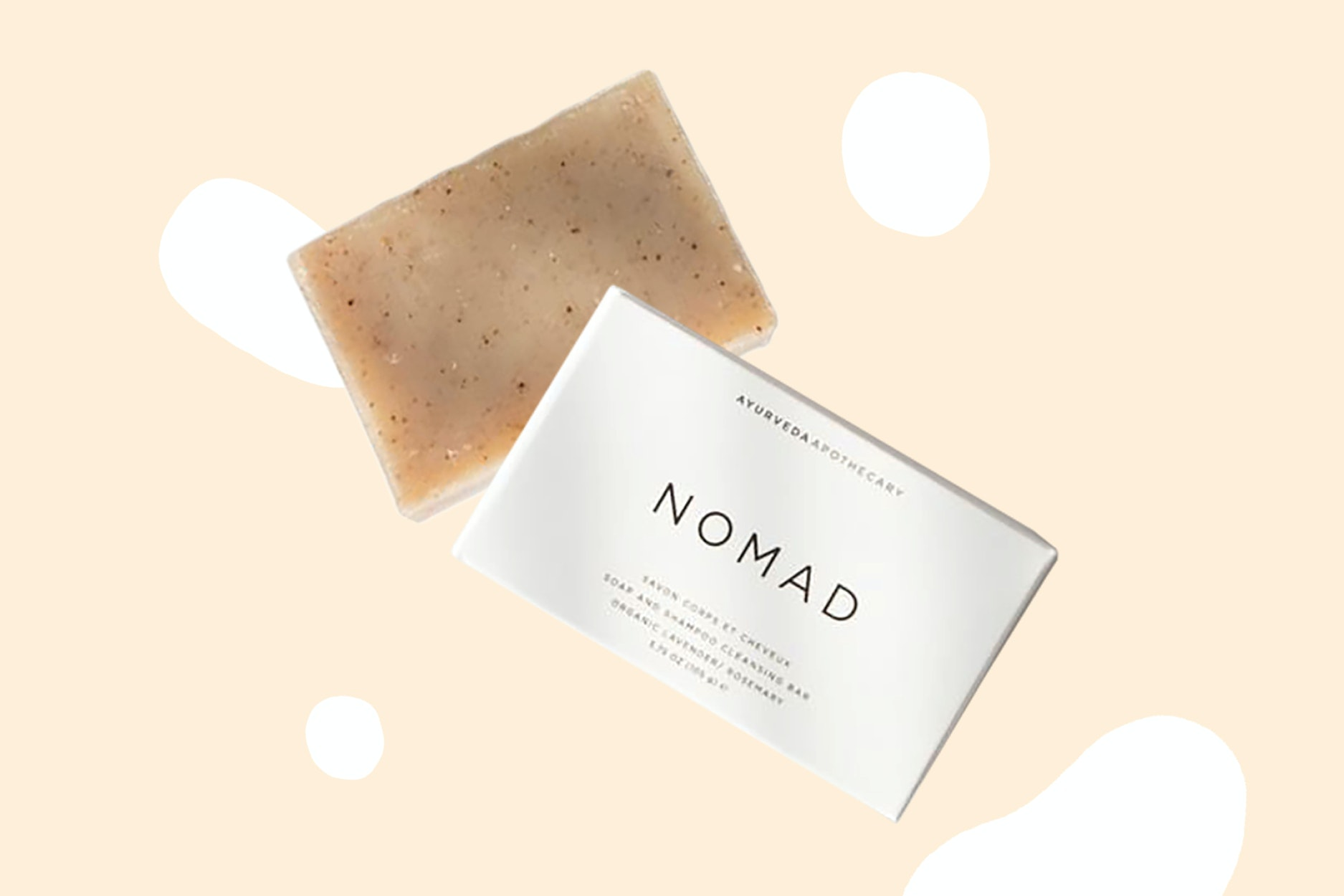 Nomad cleaning bar can serve as soap or shampoo.