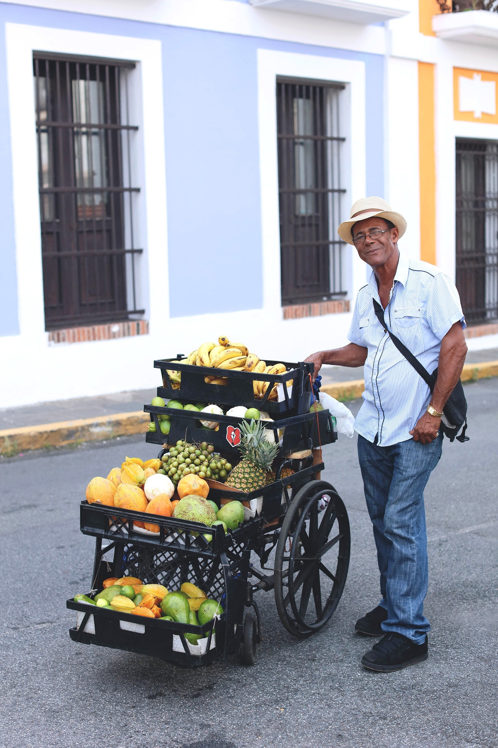 A fruit vendor in San Juan