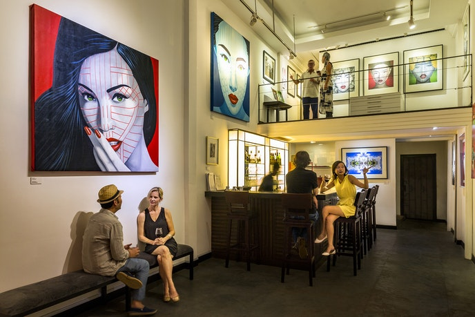 One Eleven Gallery in Siem Reap is a sister gallery to 111 Minna in San Francisco and features established as well as up-and-coming artists from the area.