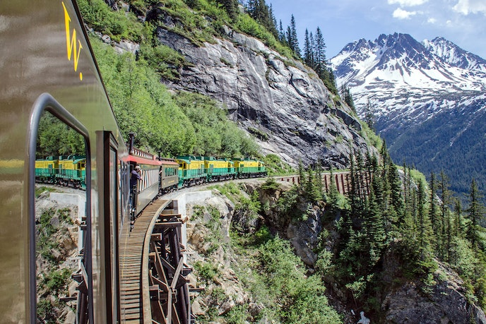 The White Pass and Yukon Railroad is a feat of engineering considering its remote location.