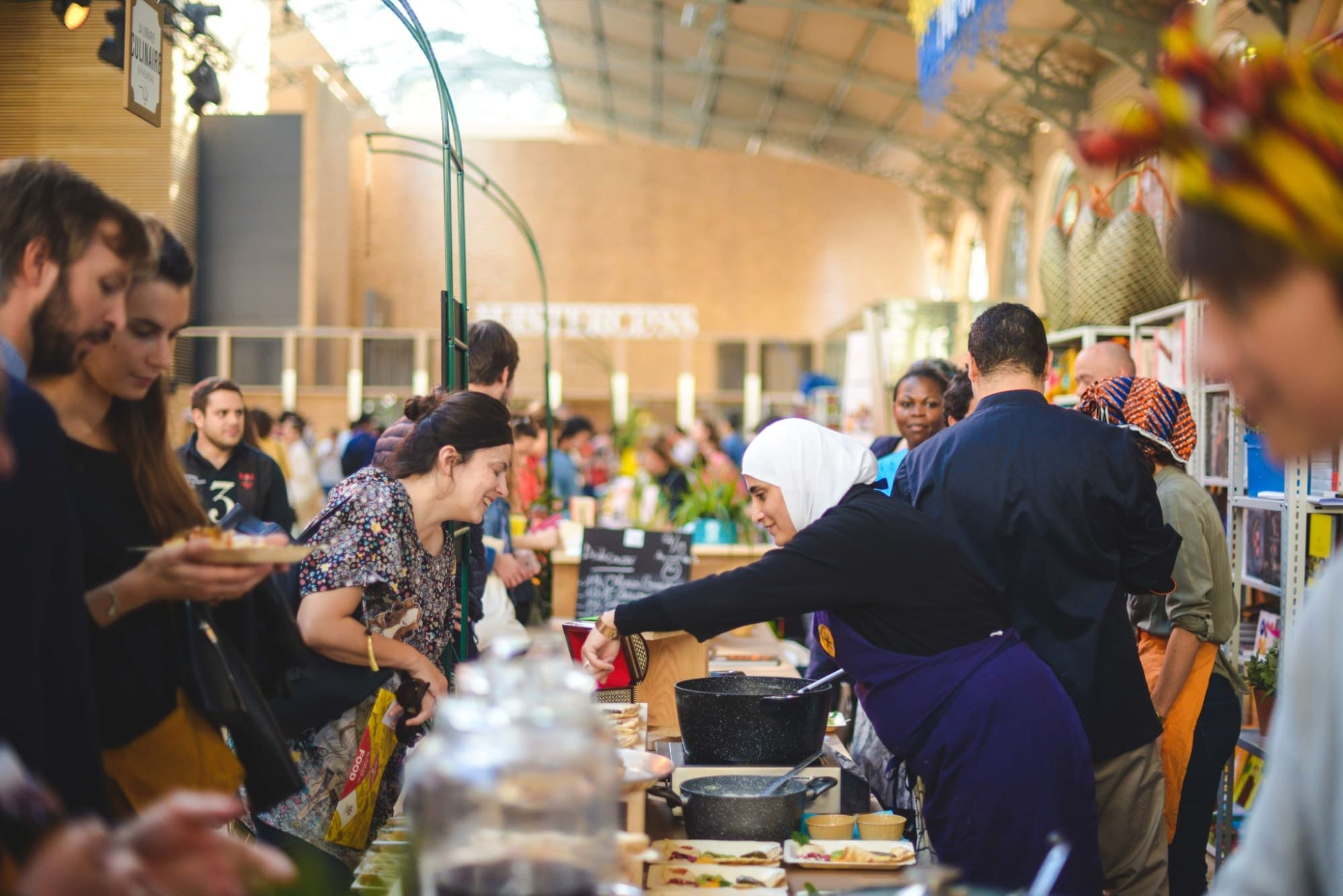 The Carreau du Temple market in Paris will welcome the 2018 Refugee Food Festival.