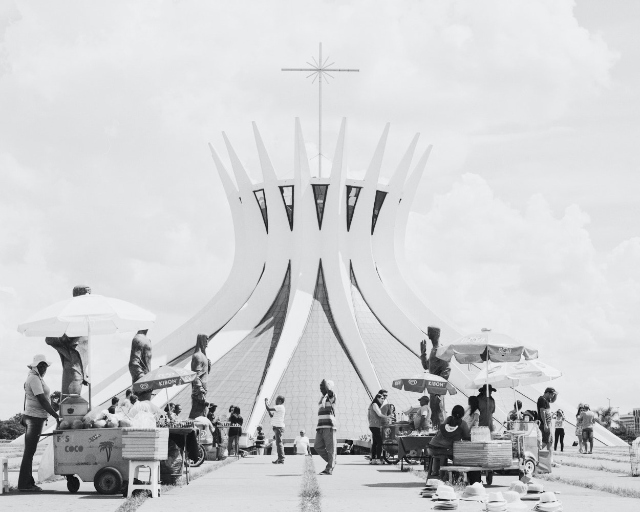Some say architect Oscar Niemeyer designed the Cathedral of Brasília to resemble two hands raised to heaven; others see it as Christ's crown of thorns.