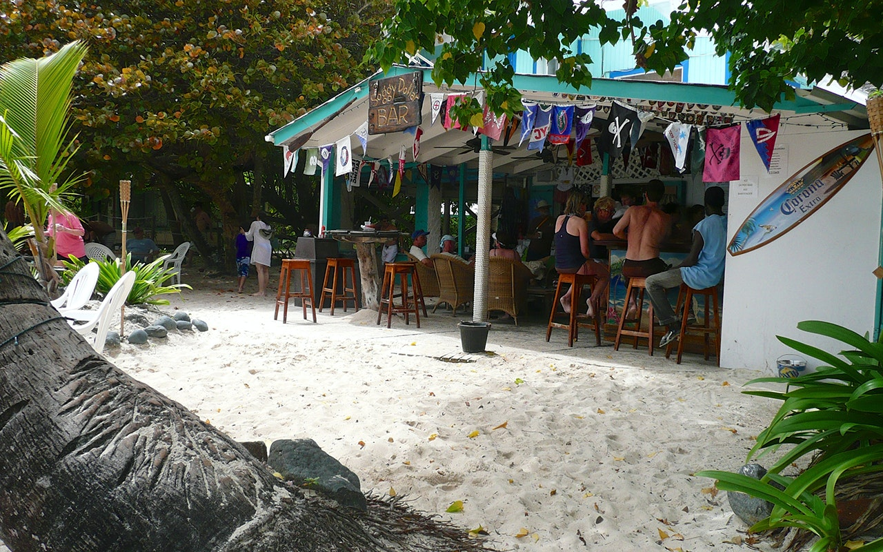 Yes, you can scratch your Painkiller itch again: The Soggy Dollar bar on Jost Van Dyke in the BVI is open.