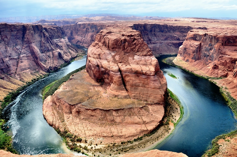 We suspect Horseshoe Bend at the Grand Canyon is best seen from above.