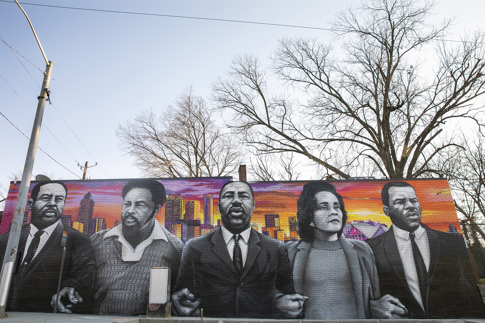 "Muhammad Yungai's ""We Shall Always March Ahead"" was one of the many Off the Wall murals commemorating civil rights activists."