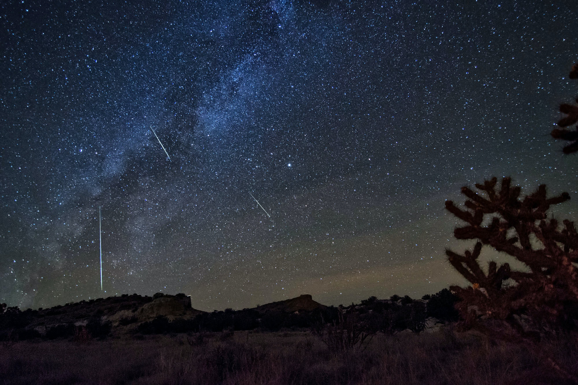 The Orionids meteor shower in 2016