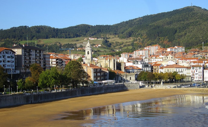 The village of Lekeitio, Spain, by day