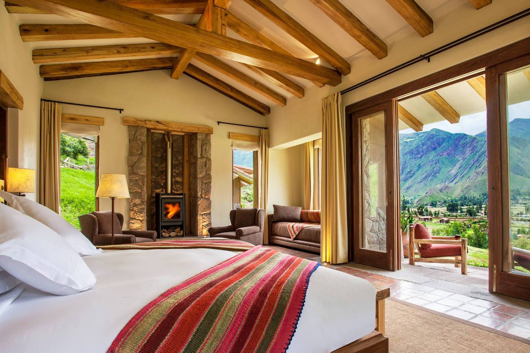 Inkaterra Hacienda Urubamba sits in the mountainous valley between Cusco and Machu Picchu.