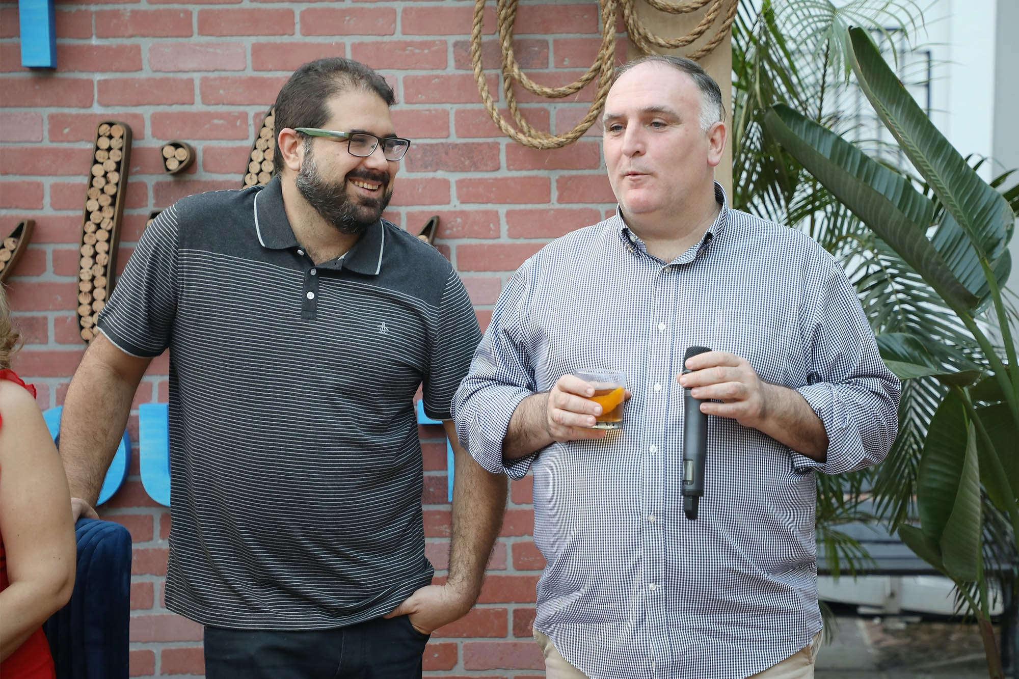 "Chef José Andrés introduced Jose Enrique at the Dine Small dinner American Express hosted to celebrate the opening weekend of ""Hamilton"" on January 12, 2019, in San Juan, Puerto Rico."