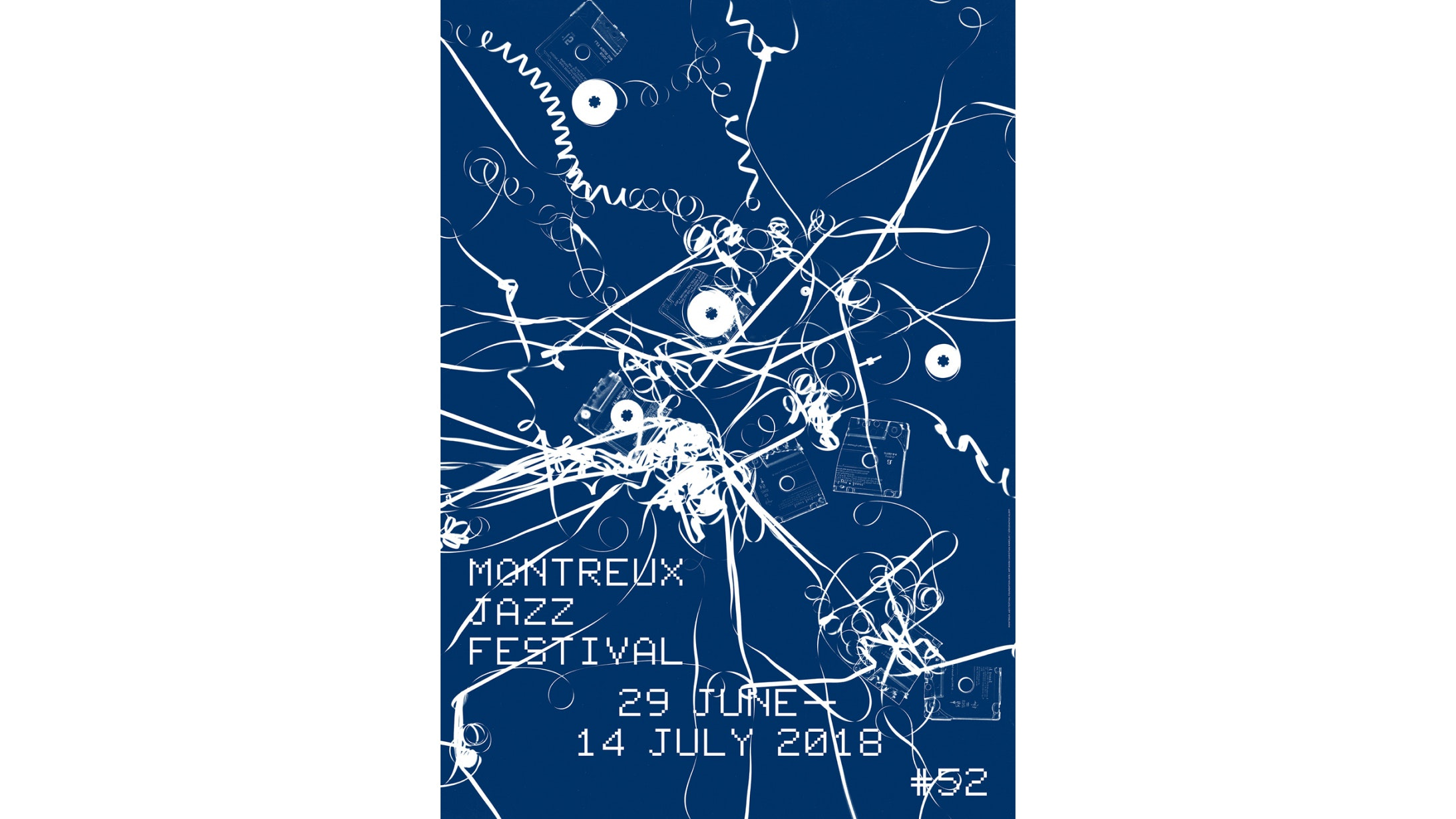 The 2018 Montreux Jazz Festival poster, designed by Swiss artist Christian Marclay