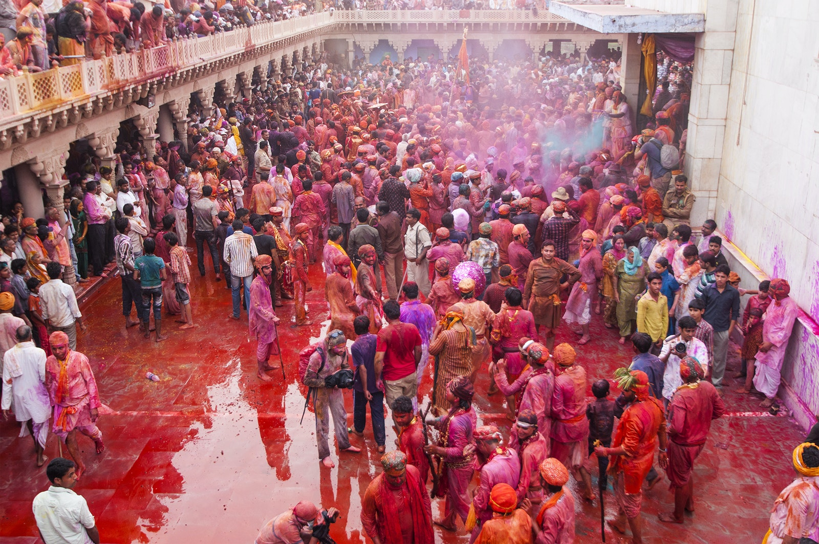 There's no avoiding it: Attend a Holi festival in India, and you'll be covered from head to toe with celebratory colored powders.