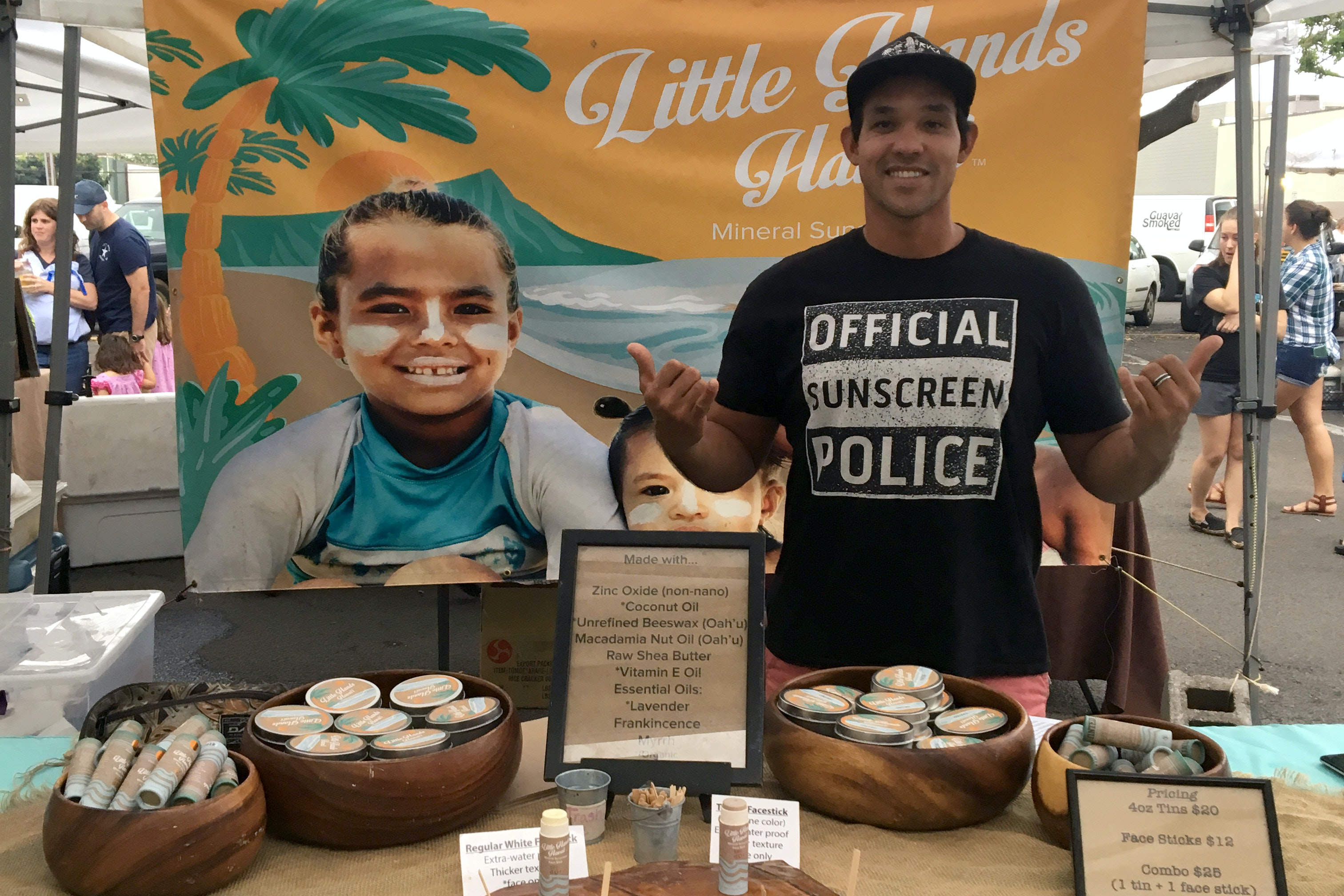 Little Hands Hawaii offers a discount on its sunscreens to customers who trade in chemical sunscreens.