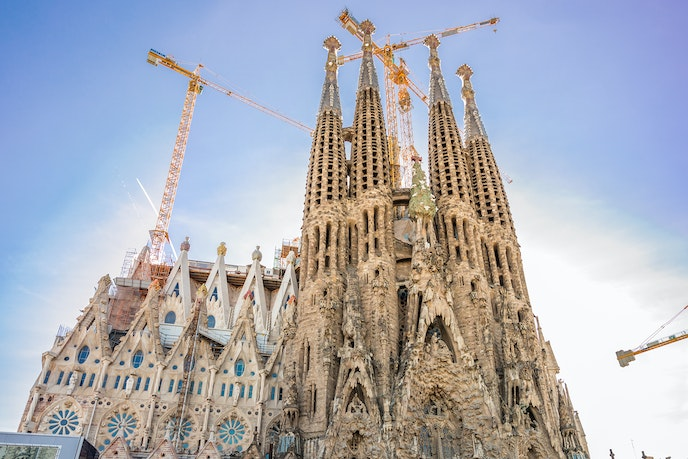 Construction on Barcelona's Sagrada Familia has been ongoing for more than a century.