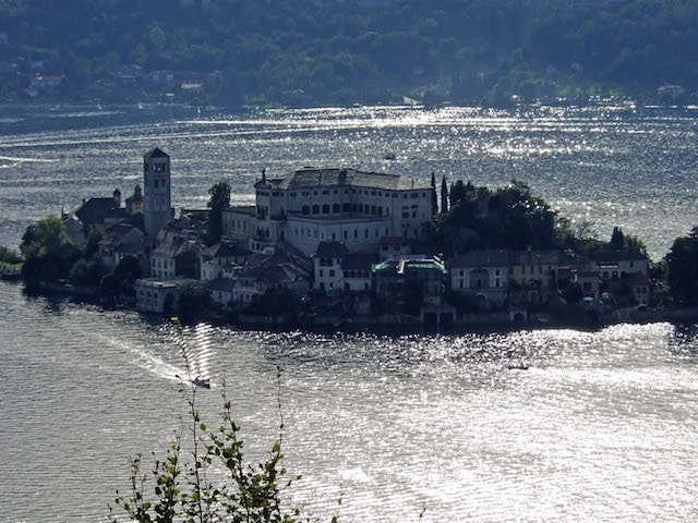 A view of Isola San Giulio on Italy's Lake Orta, Alessi's favorite place.