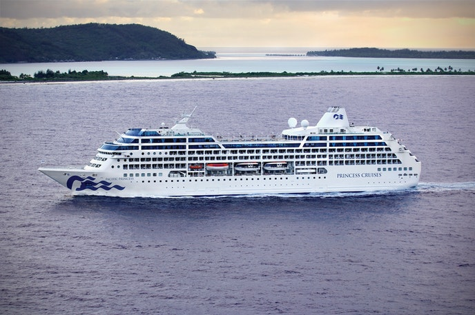 Grab your sweetheart and board the Pacific Princess for a 26-country world cruise.