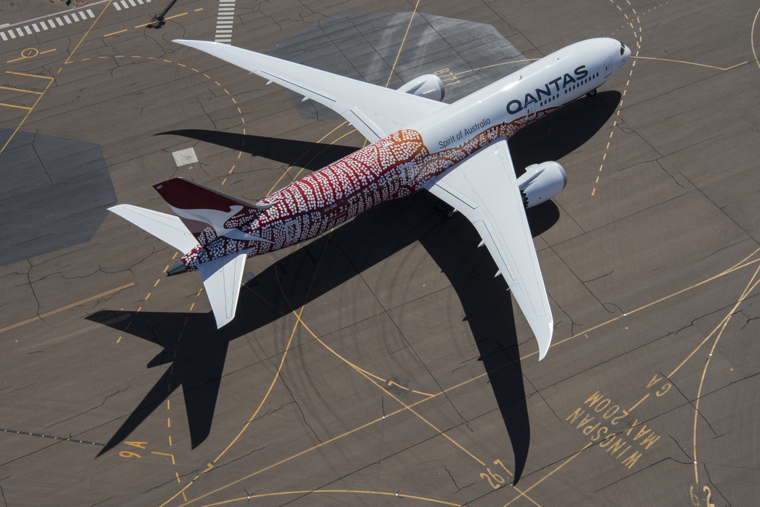 This is the fifth design in Qantas's flying art series.