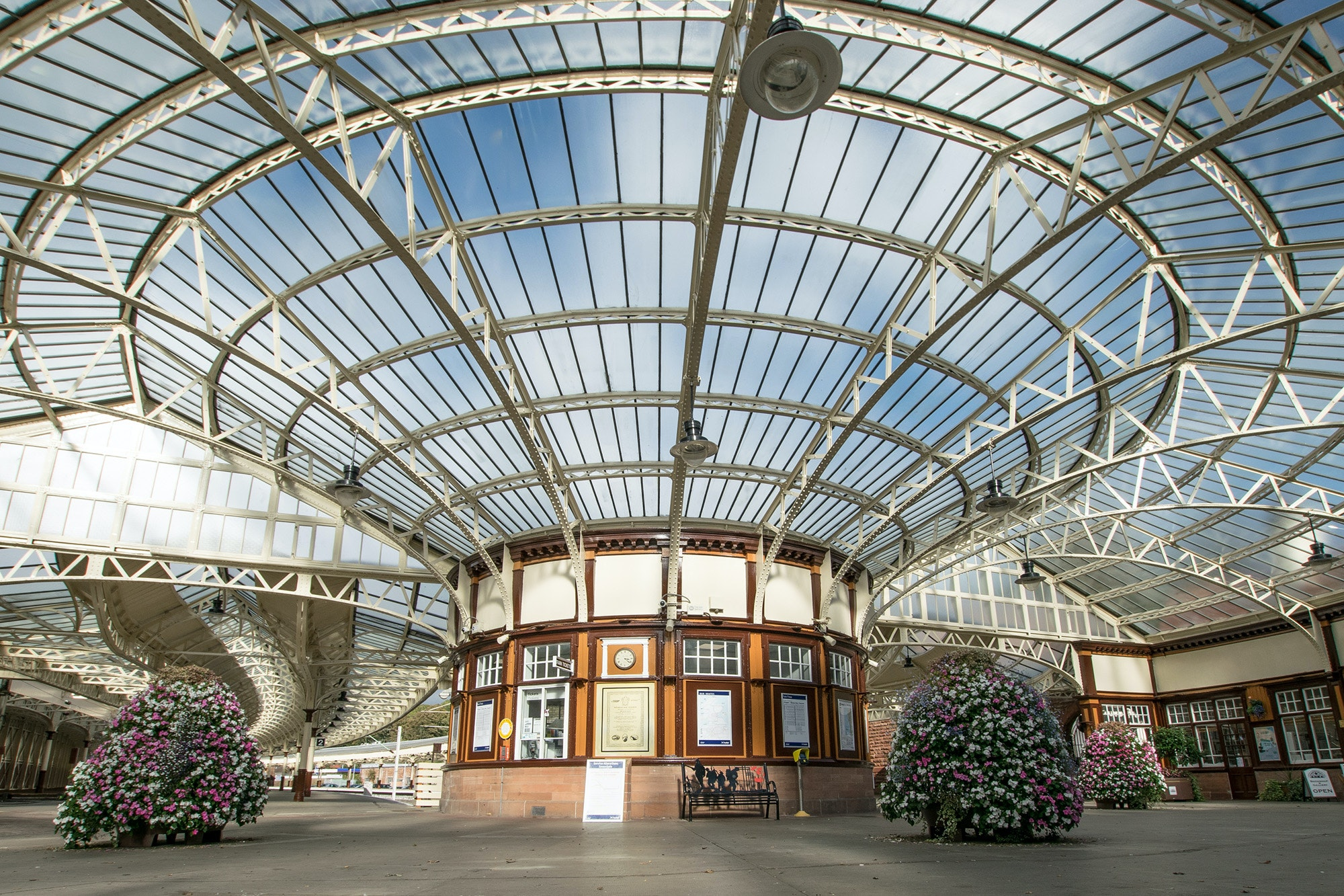In 2009, a group of locals restored Wemyss Bay rail station to its former floral glory.