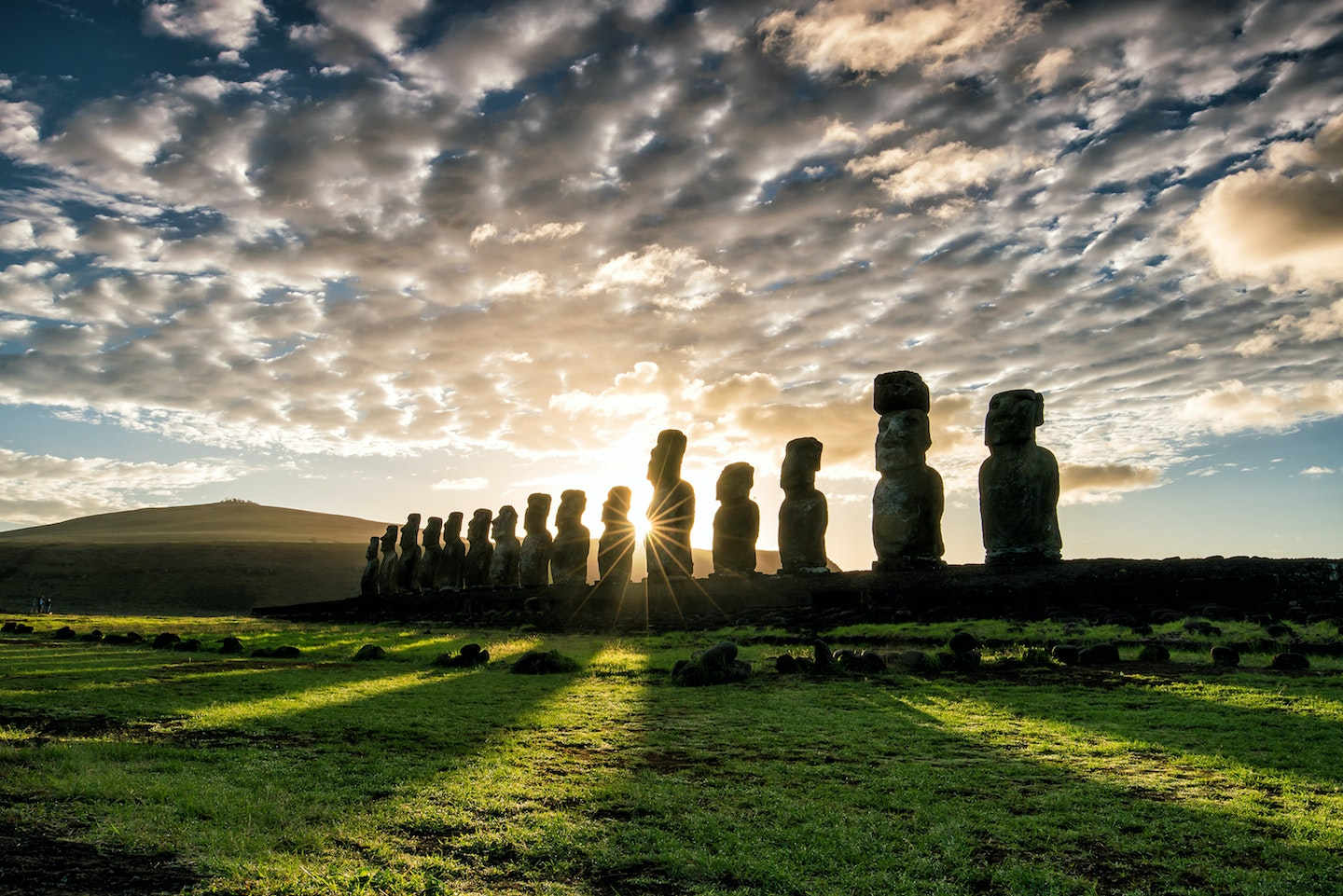 Holland America Line's world voyage features numerous stops in South America, including at Easter Island, Chile.