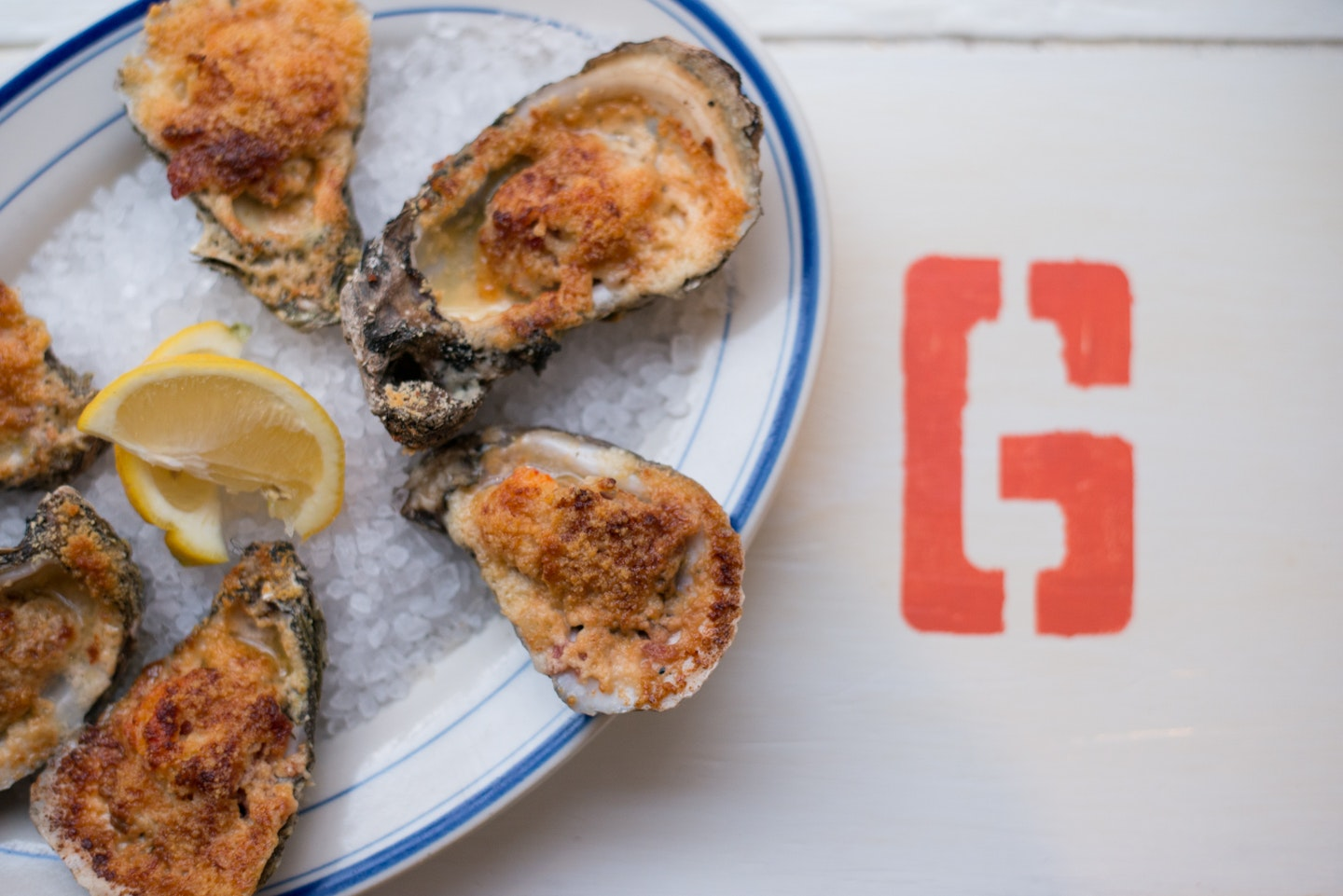 Saltine's wood-fired oysters are to die for.