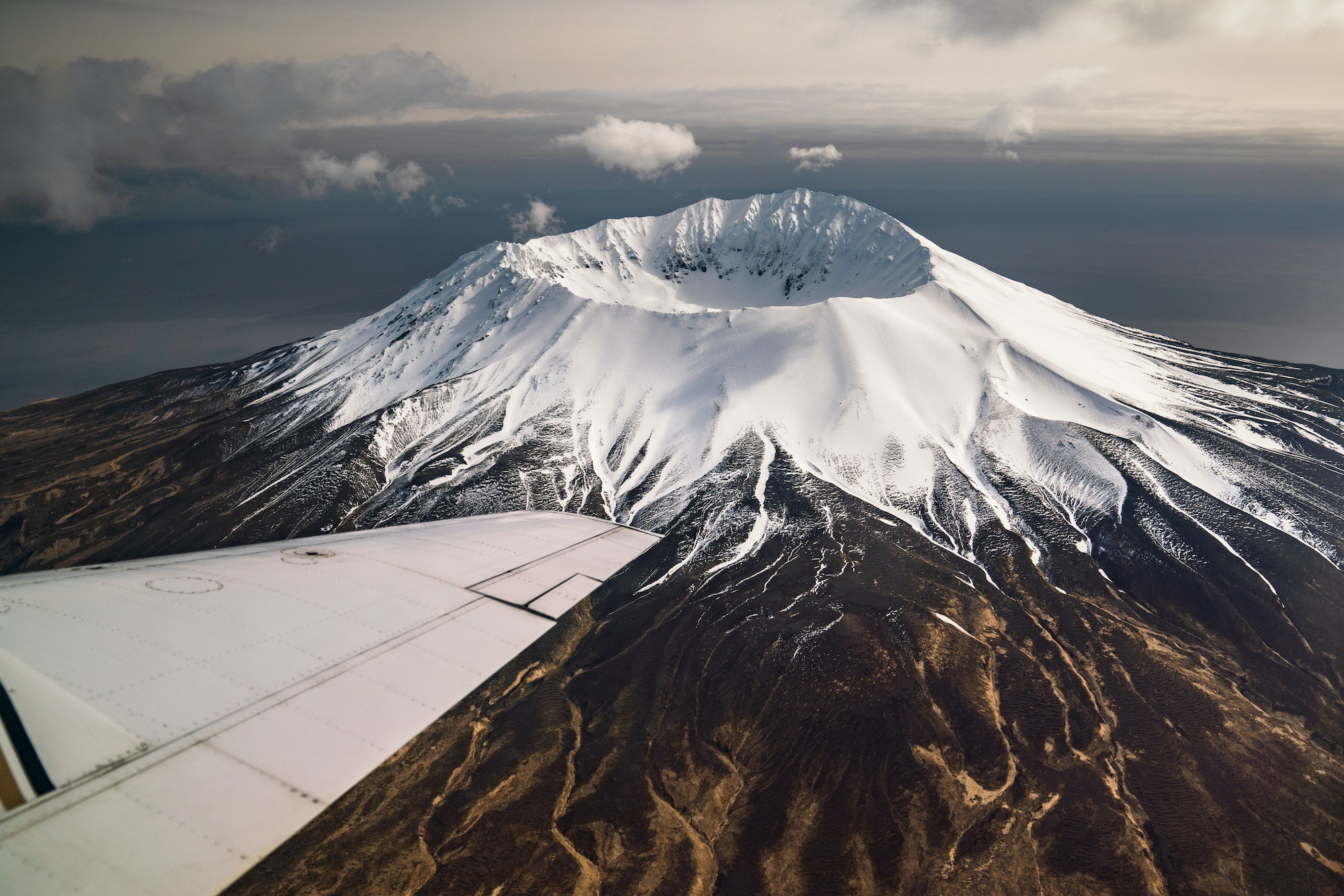 Situated between the Pacific Ocean and the Bering Sea, the Aleutian Islands occupy a total area of 6,821 square miles.