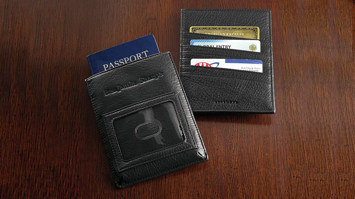 There are plenty of RFID-blocking sleeves for passports on the market, like this $49 example from Levenger.
