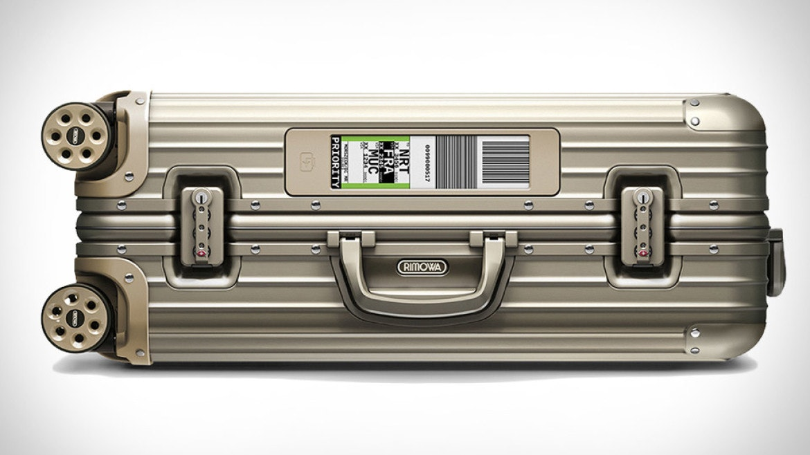 The app-connected digital luggage tag on Rimowa's line of cases puts them on the no-fly list.