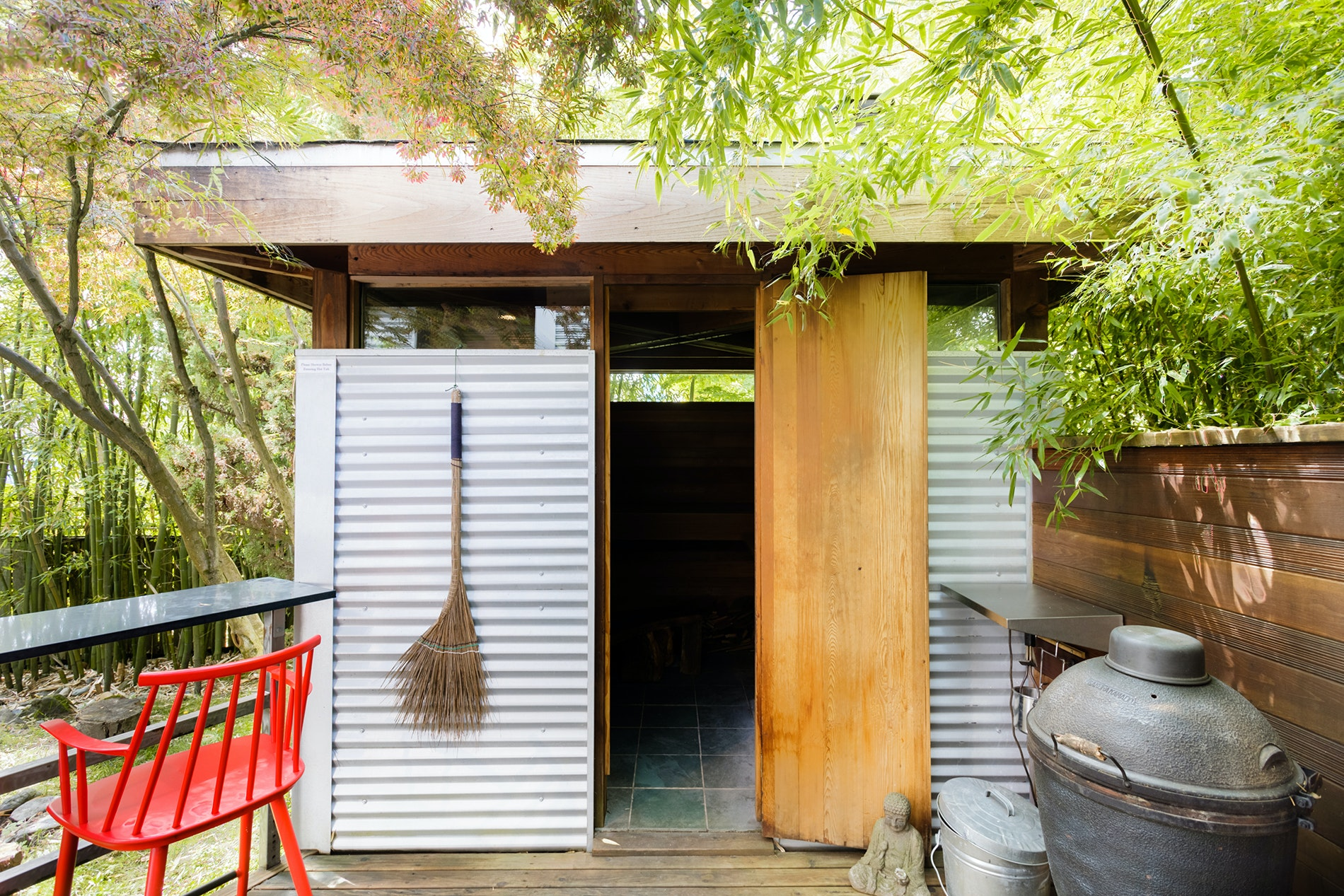 Get your R&R in at this Greenwood-based Airbnb, with its Zen-inspired offerings that include a private garden retreat, authentic Finnish sauna, and saltwater hot tub.