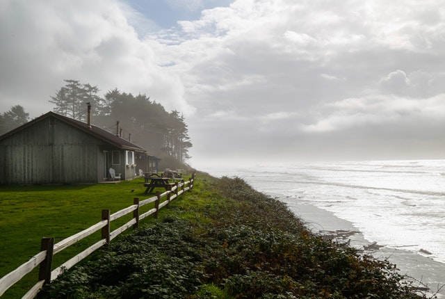 The view from Kalaloch Lodge, Olympia National Park