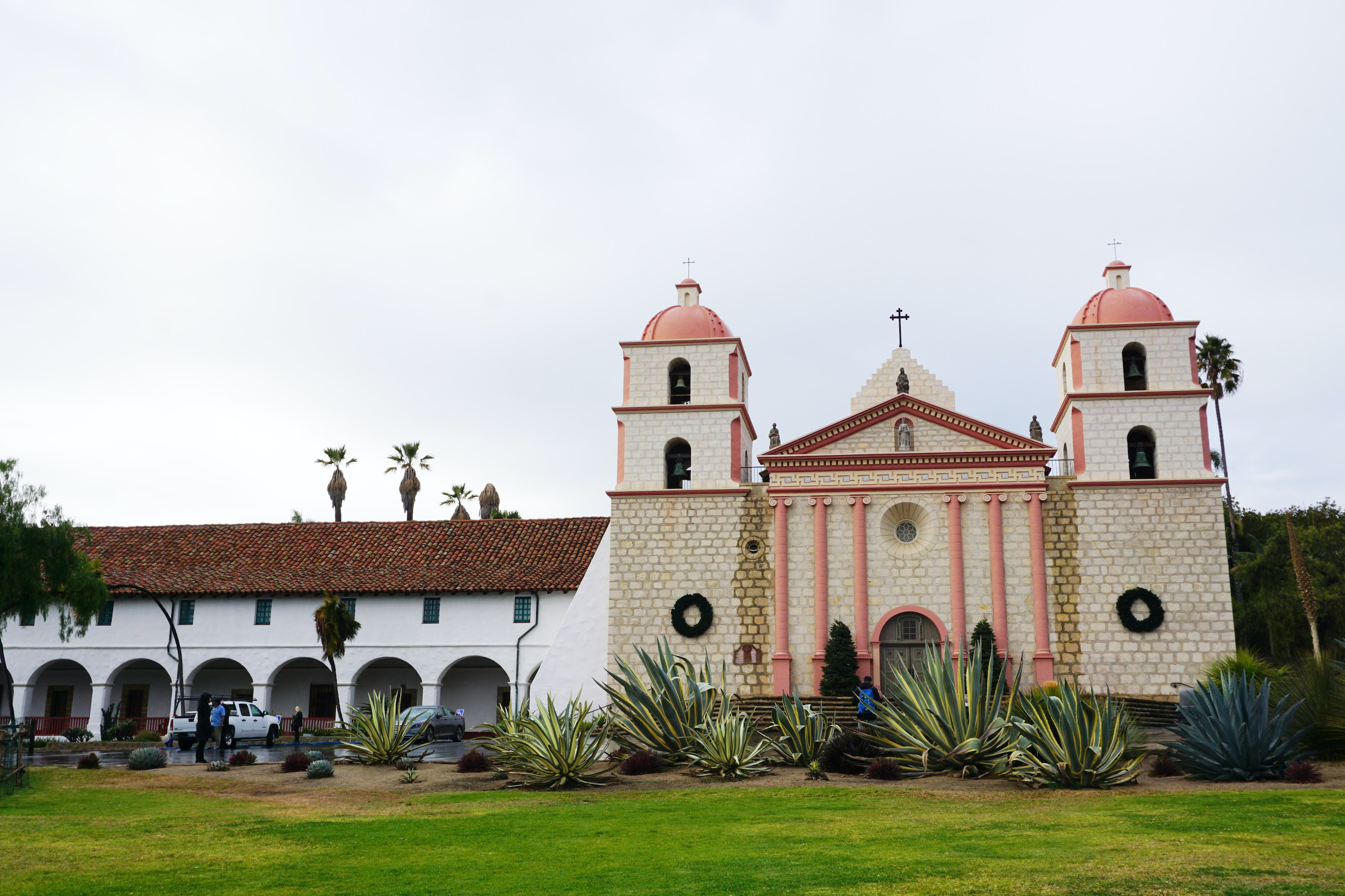 The Santa Barbara Mission is a cultural and historic landmark.