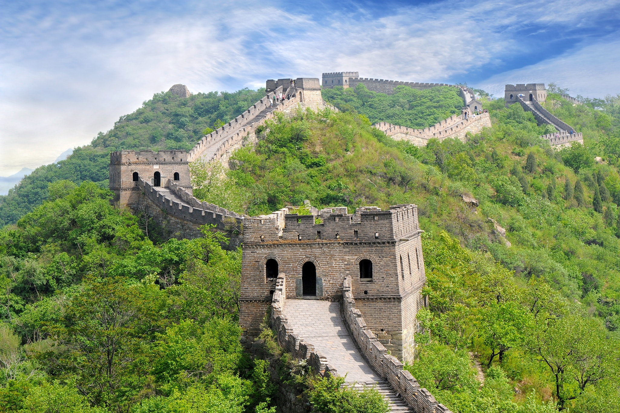 Many sections of the Great Wall of China were constructed during the Ming Dynasty between 1368 and 1644.